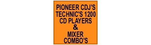 DJ CDPLAYER, TURNTABLE MIXER COMBO'S