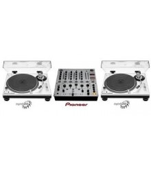 Pioneer DJM 700 & 2 X Technics 1200 Turntables