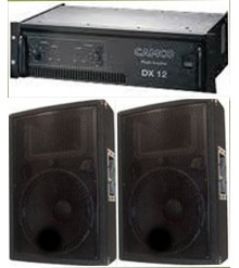 "Single 15"" Speakers & Amp"